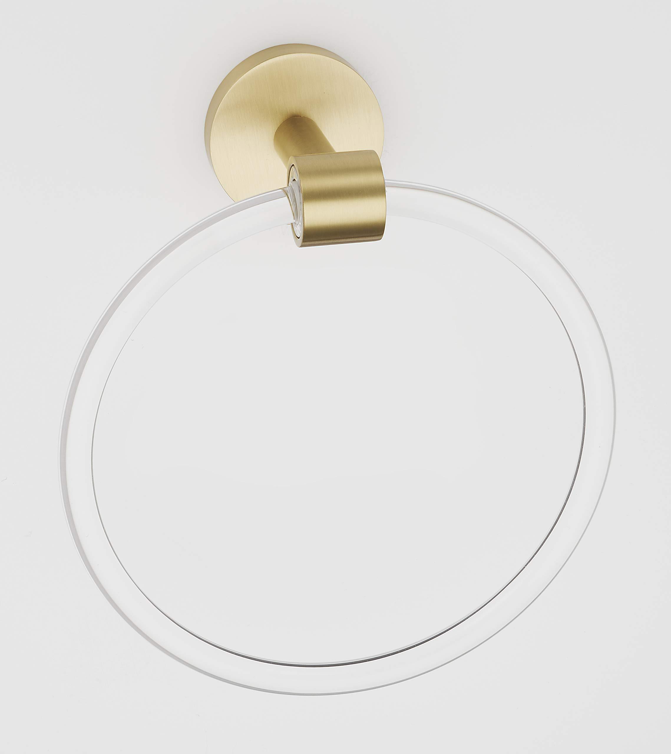 Alno A7240-SB Contemporary Acrylic 6 Inch Diameter Towel Ring