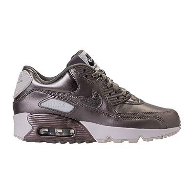 buy online bcc18 1afe0 Nike Air Max 90 LTR SE GG Big Kids MetallicSilver White 897987-005 (
