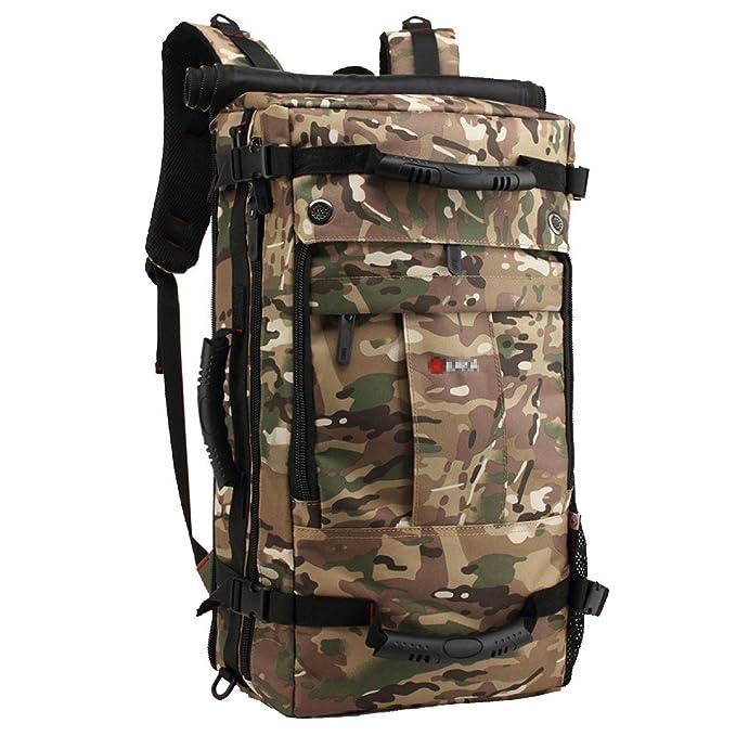Mochila De Viaje De Gran Capacidad Bolsa De Ordenador Portátil De Moda,ArmyGreen-40L: Amazon.es: Ropa y accesorios
