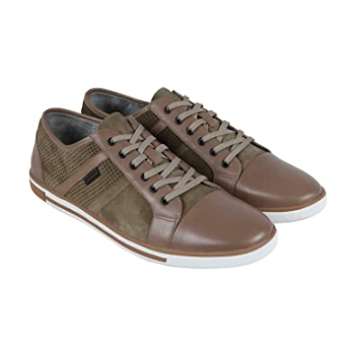 cae6510db2 Kenneth Cole New York Initial Ly Mens Brown Leather Lace Up Sneakers Shoes  12