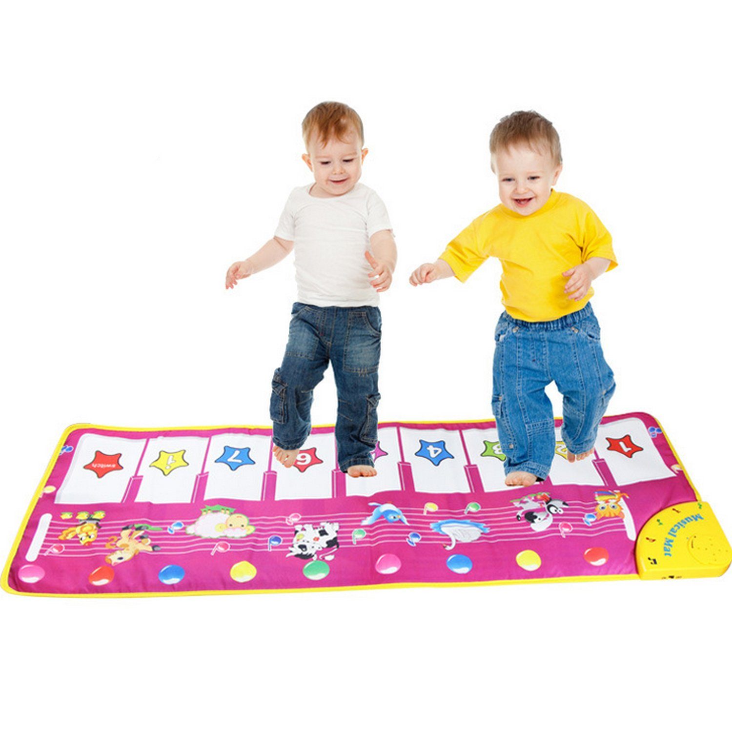 THE SAFETY ZONEY Piano Mat Musical Mat, Kingseye Baby Early Education Music Piano Keyboard Carpet Animal Blanket Touch Play Safety Learn Singing funny Toy for Kids Gift(purple)