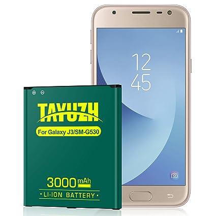Galaxy J3 Battery,TAYUZH 3000mAh Li-ion Replacement Battery for Galaxy J3  J320A J320V J320F J320P J327A J327P Galaxy On5 EB-BG530BBU EB-BG530BBE |