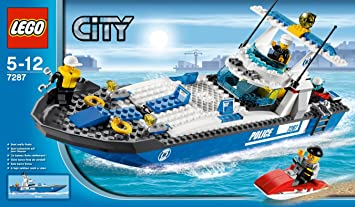 lego city 7287 jeu de construction le bateau de police