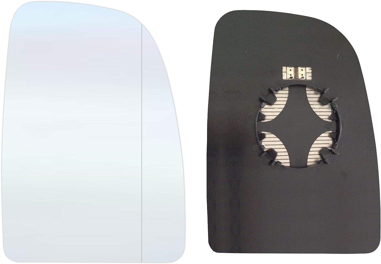 Verre de r/étroviseur droit c/ôt/é passager Asph/érique avec plaque et chauffage #AM-FTDCO06-RWAH