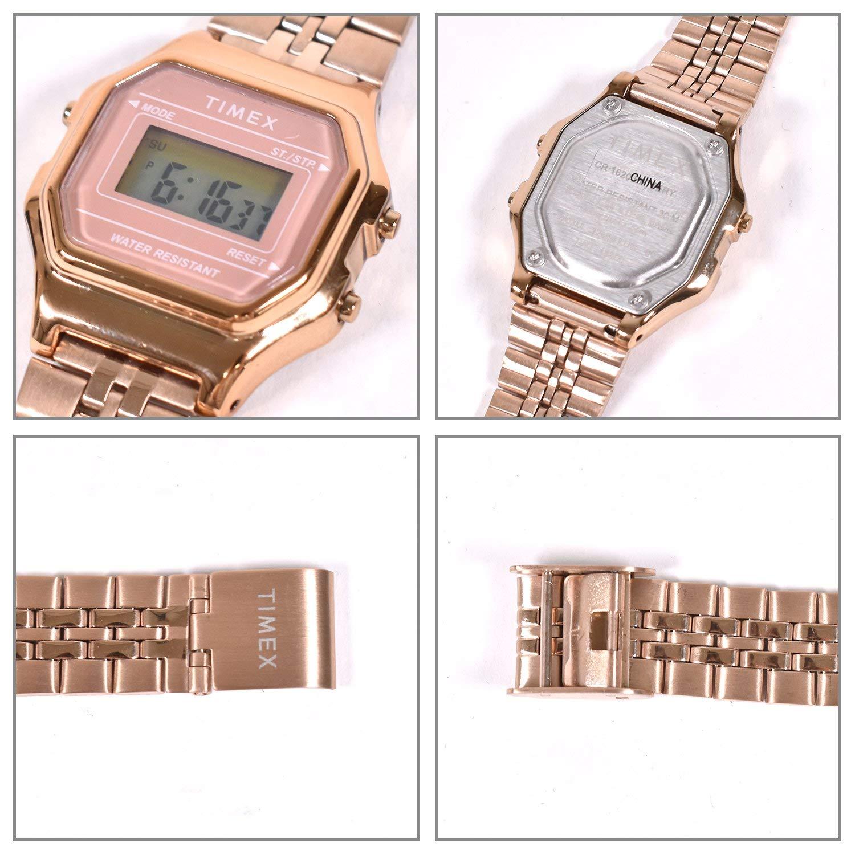 8a0efb0520 Amazon | TIMEX タイメックス 時計 クラシック デジタル ミニ ローズゴールド ブレス TW2T48300 TW2T48300 F |  レディース腕時計 | 腕時計 通販