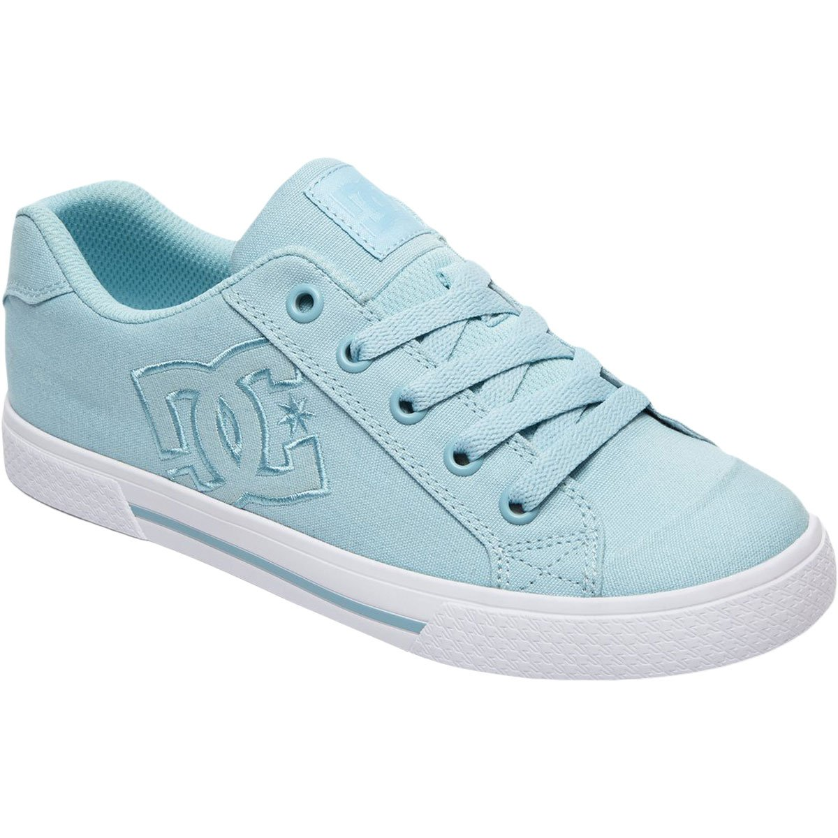 DC Women's Chelsea TX Skate Shoe, Light Blue, 6 B US