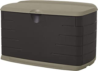 product image for Rubbermaid Medium Resin Weather Resistant Outdoor Garden Storage Deck Box, Sandstone