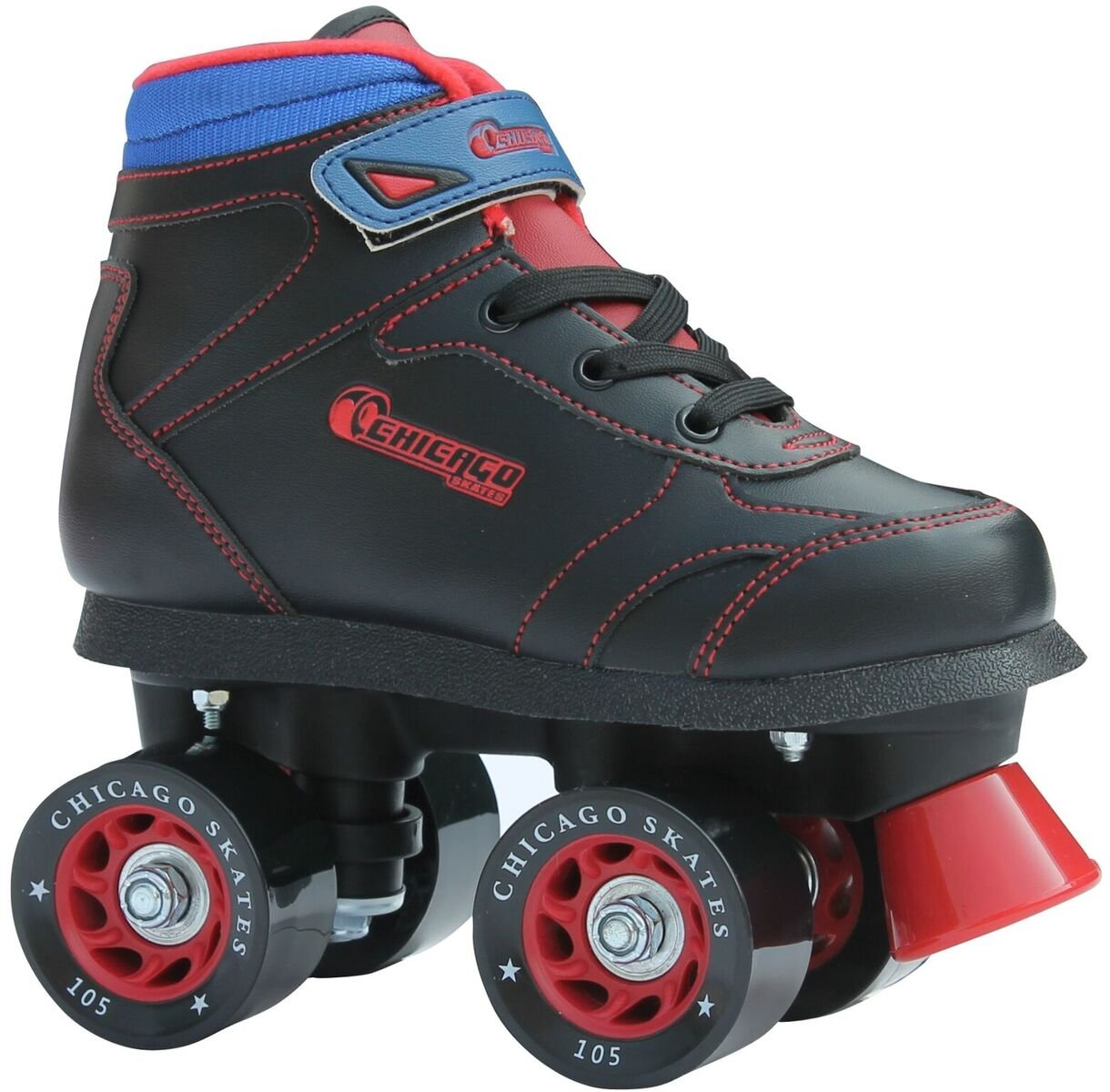 Chicago Boys Sidewalk Roller Skate – Black Youth Quad Skates