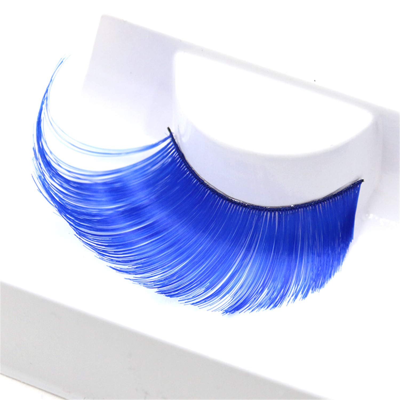 66202f3c444 Amazon.com : SDHEIJKY Makeup Thick False Eyelashes Long Paragraph  Exaggerated Curly Blue Stage Fake Eyelashes : Beauty