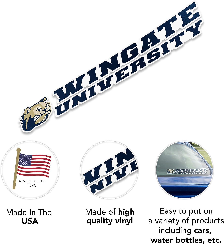 8 Inch Sticker Wingate University Name Logo Vinyl Decal Laptop Water Bottle Car Scrapbook