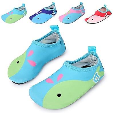 ccbce9b66319 katliu Boys Girls Swim Water Shoes Quick-Dry Soft Cartoon Sports ...