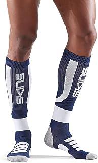 SKINS Essentials Mens Performance Compression Socks Navy Blue/White Homme, FR : M (Taille Fabricant : M) SKIOD|#Skins ES00019372050