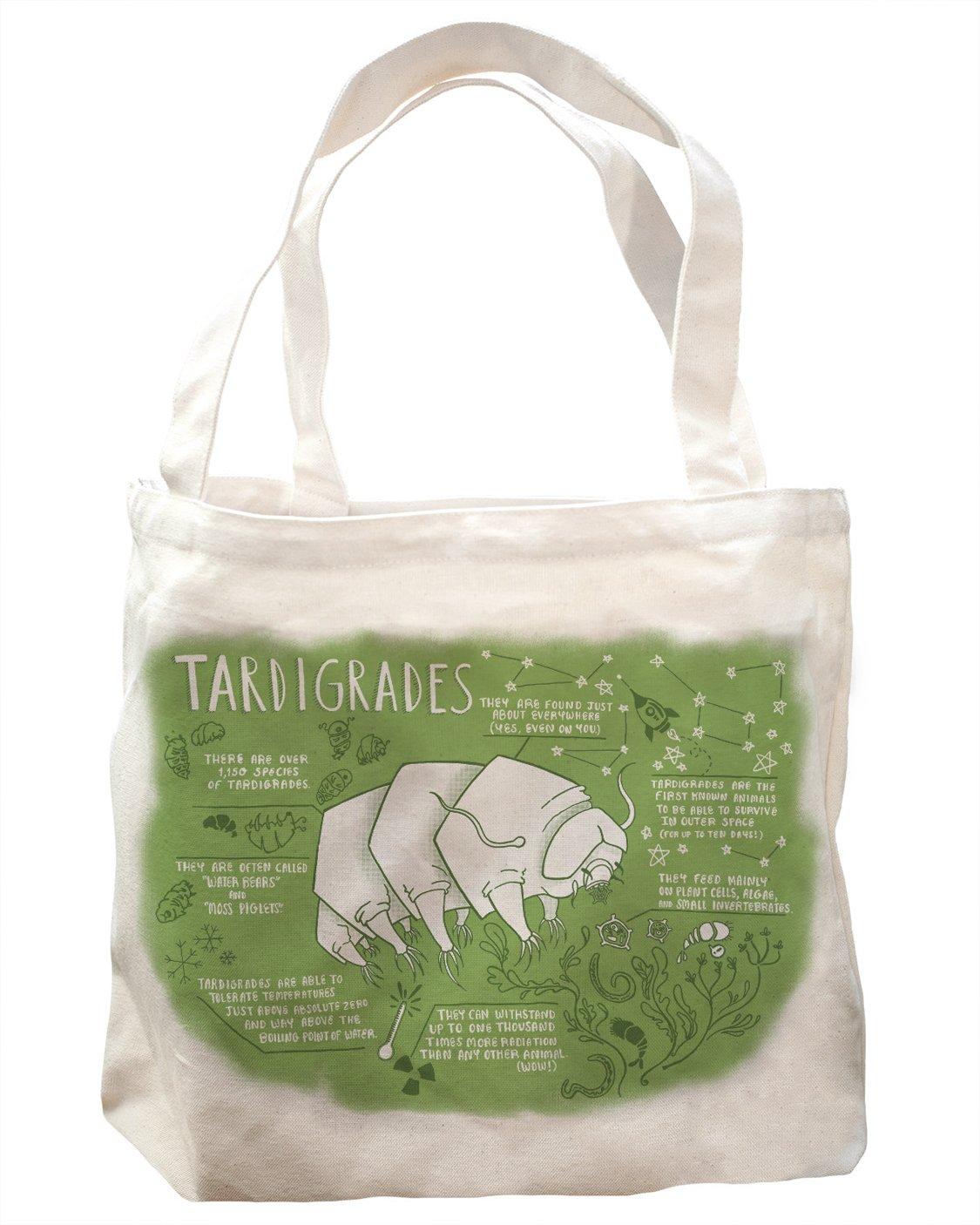 Cognitive Surplus Illustration Tardigrades Cartoon Tote Bag 10 oz Recycled Cotton