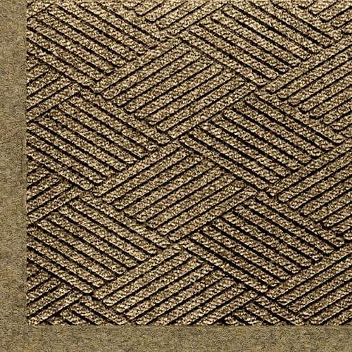 M+A Matting 2297 Waterhog ECO Elite PET Polyester Entrance Indoor/Outdoor Floor Mat, 6' Length x 4' Width, Khaki ()