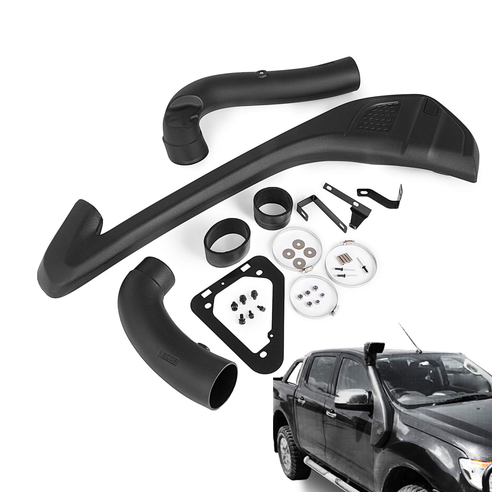Mophron Air Intake Snorkel Kit Set ABS Plastic Snorkel Kit For 2011-2018 Ford Ranger T6 Xlt Xl 2Wd 4Wd Wildtrak by Mophorn