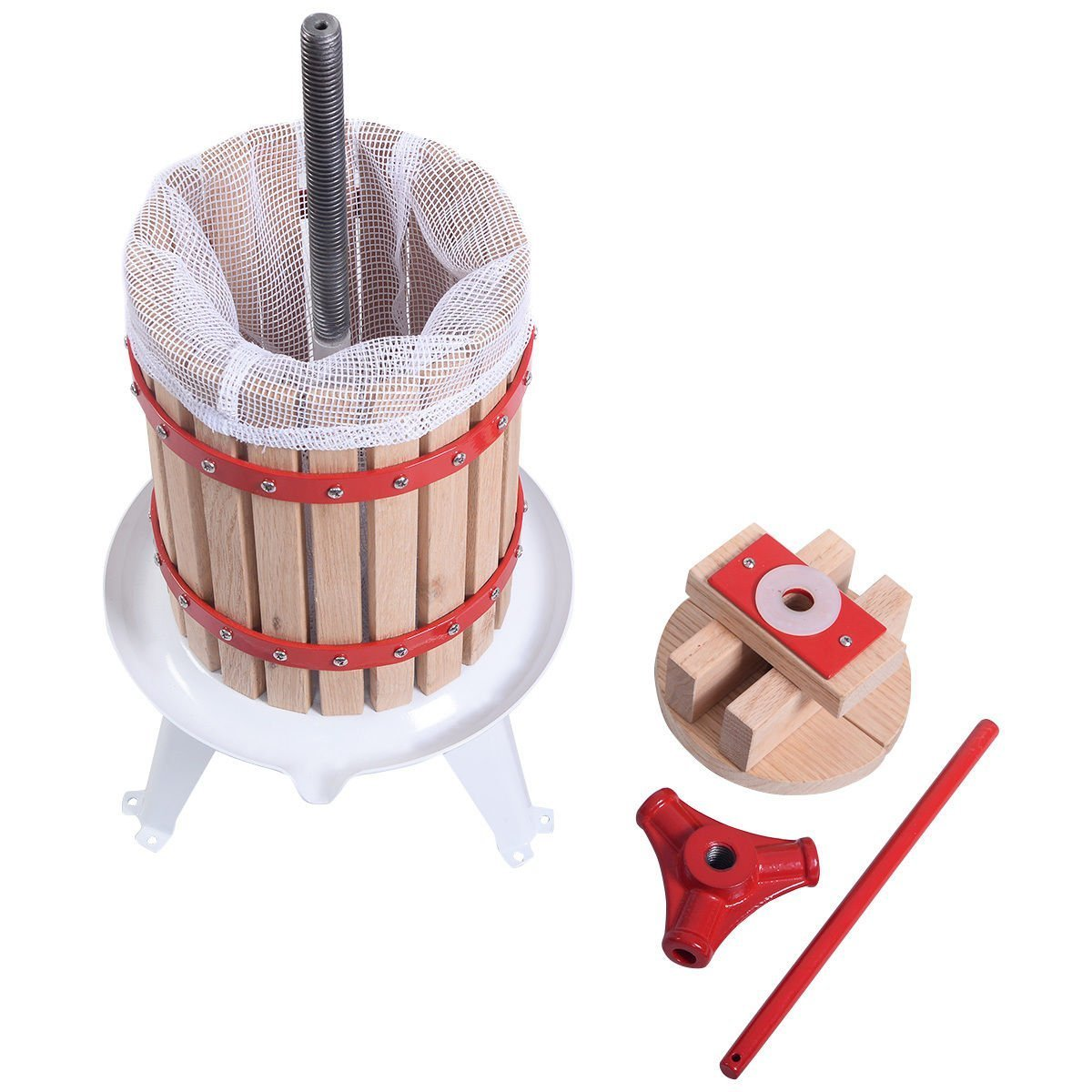 Useful UH-FP165 1.6 Gallon Solid Wood Basket Fruit and wine Press by Useful. (Image #2)