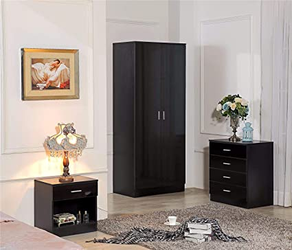 Harmin Ltd High Gloss 3 Piece Bedroom Furniture Set Includes Soft