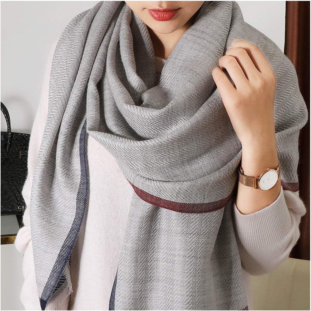 HENGTONGTONGXUN ウールスカーフシンプルなスタイルの女性の薄いセクション単色長いセクション野生の暖かいショールデュアル目的 衣服 B