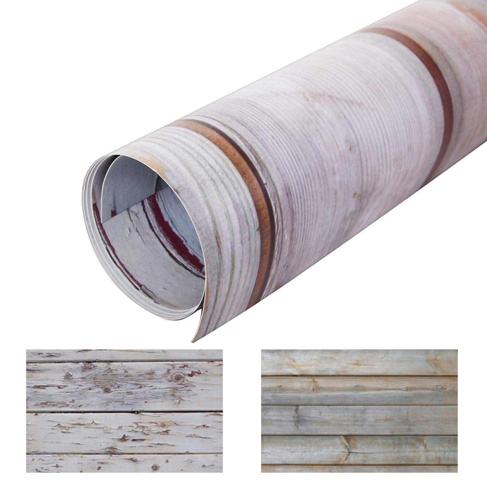 Selens 22x35Inch 2-in-1 Food Photography Wooden Background 4pcs Paper for Photographers, Foodies, Gourmet Bloggers, Cosmetic Sellers, Online Stores Product Photography, Life Photos and More by Selens (Image #6)