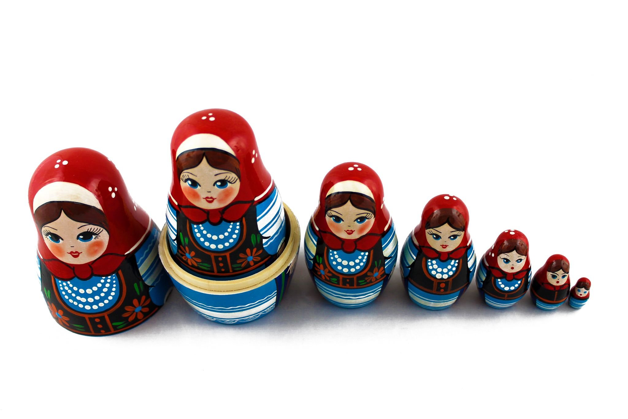 Matryoshka Polish National Dress Babushka Russian Nesting Wooden Stacking Doll 7 Pcs by MATRYOSHKA&HANDICRAFT (Image #5)