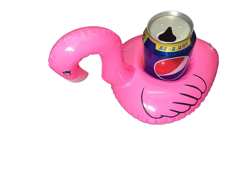 BigLion Flamenco Flotador Posavasos, Flamingo Inflable Palmera Titular Copa Bebida Titular Botella Flotante Posavasos Piscina Verano Decor Suministro Fiesta ...