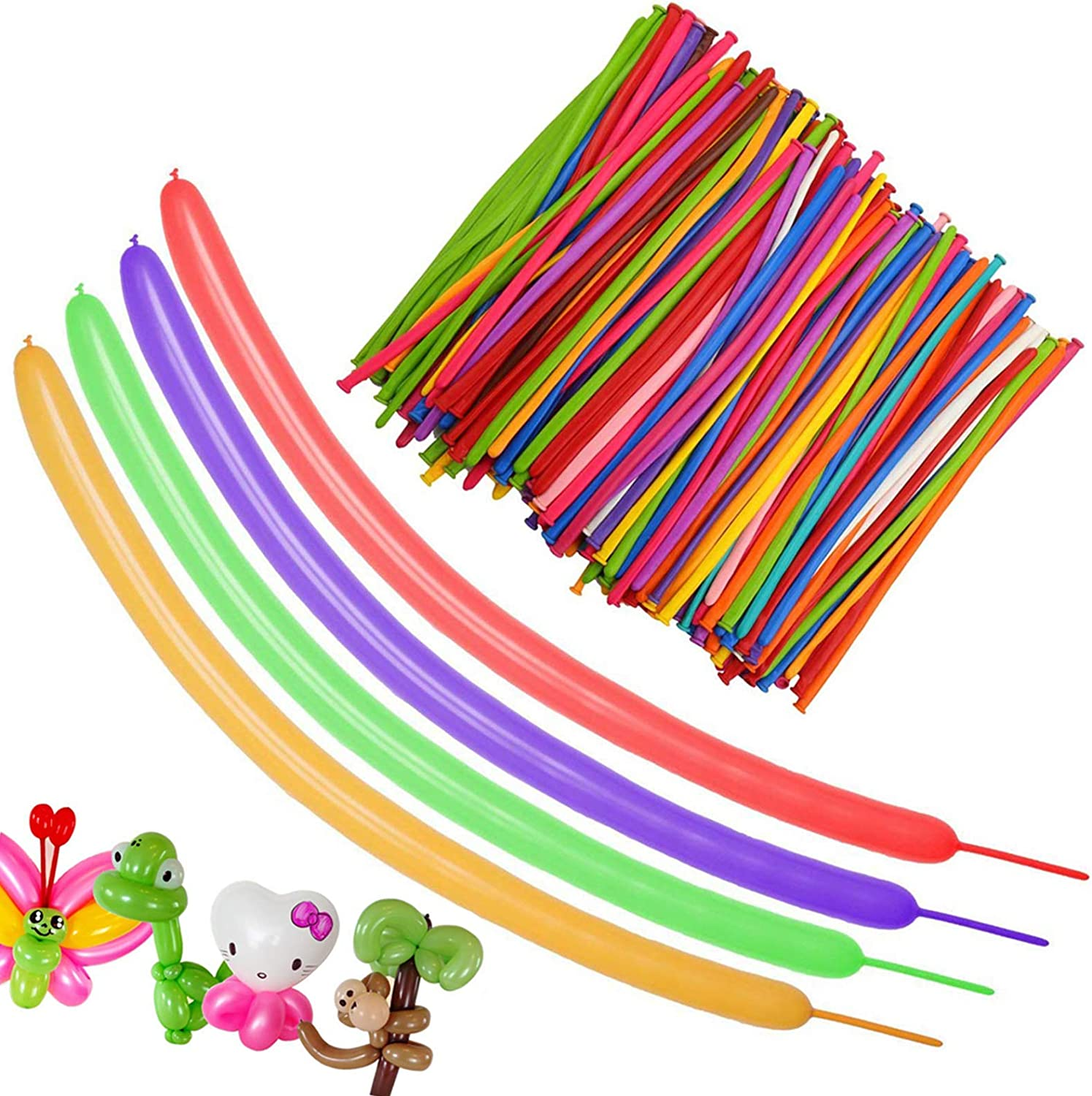 Long Balloons Twisting Magic Balloons 100pcs Sculpture Twist Balloon Animal Balloons Kit 260q Diy Balloons for Birthday kids Wedding Party Decorations
