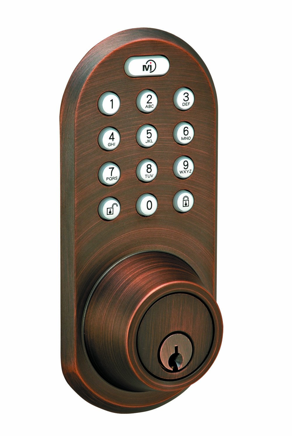 MORNING INDUSTRY INC QF-01OB 3-In-1 Remote Control & Touchpad Dead Bolt, Oil Rubbed Bronze by Morning Industry