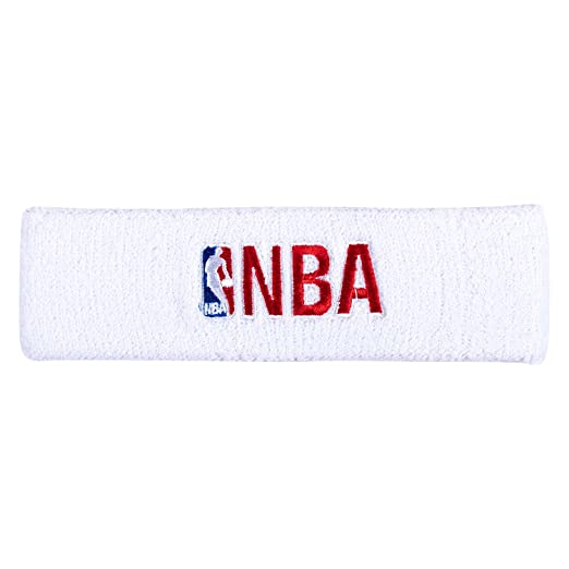 Amazon.com  NBA Logo and Woodmark Headband White Red  Clothing c1ac53608f0