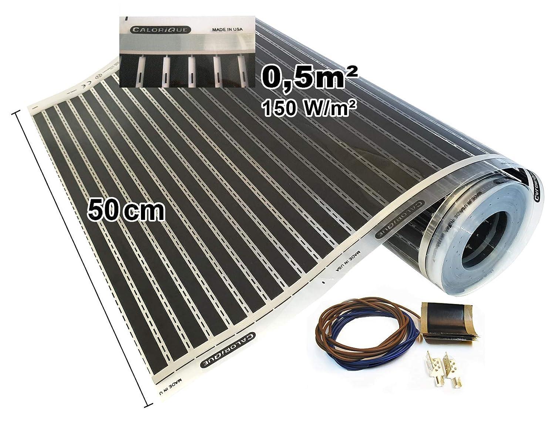 Calorique Chauffage au sol 50cm 150W / m² Set 1m² Solution de chauffage efficace et d\'économie d\'énergie de la maison