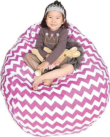 Fully Filled Kids Children/'s TEAL 100/% Cotton BEAN BAG  Large /& X Large adult