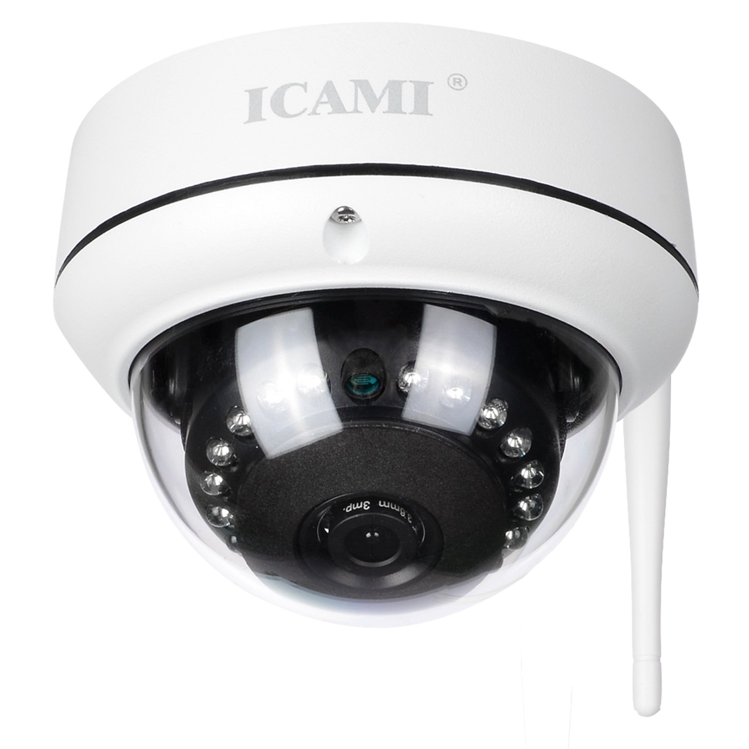 ICAMI HD Security Camera WiFi Dome IP Camera Wireless Home Surveuillance System Audio with Motion Detect 720P