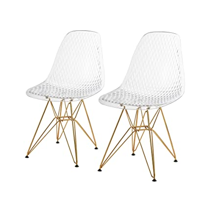 Genial Roshi Clear Polycarbonate Dining Chair (Set Of 2) Dining Vidaxl Set Chair  Kitchen Chairs