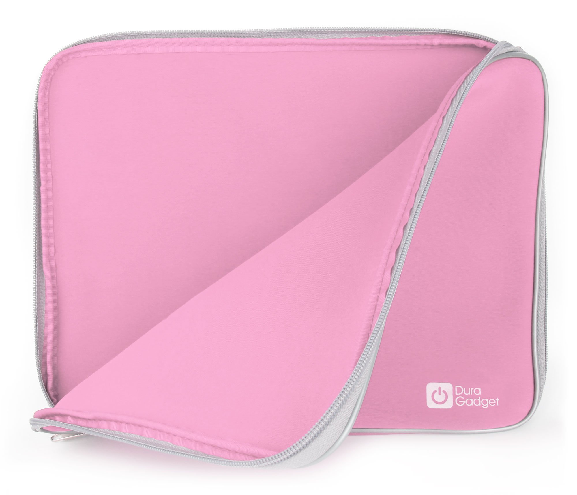 Pink 'Travel' Sleeve Case in Shock-Absorbing & Water-Resistant Neoprene for The Lenovo Miix 520 - by DURAGDGET by DURAGADGET (Image #1)