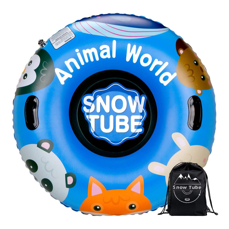 Leader Accessories Trineo Hinchable de Nieve Tubo de Esquí Inflable con Manijas Snow Tube Juguetes de Nieve Invierno para Niños y Adultos Grande con ...
