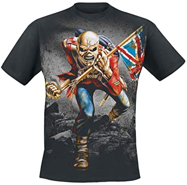 41ca8ade Iron Maiden The Trooper T-Shirt Black: Amazon.co.uk: Clothing