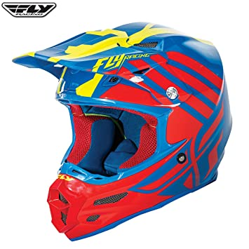 73-4213X - Fly Racing 2016 F2 Carbon Zoom Motocross Helmet XL Blue Red Hi