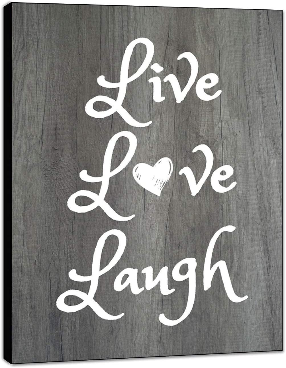 "LACOFFIO Live Love Laugh Wall Decor House Warming Gifts - 9""x 12"" Home Decor Perfect for Kitchen and Living Room - Inspirational and Motivational Quotes Wall Art"
