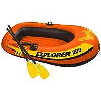 Intex Bote Inflabe Explorer 200 con Remos de Aluminio y Mini Bomba de Aire
