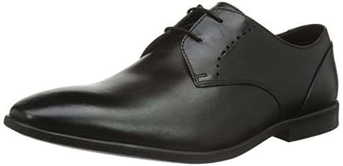 Banbury Lace, Zapatos de Cordones Derby para Hombre, Negro (Black Leather-), 41 EU Clarks