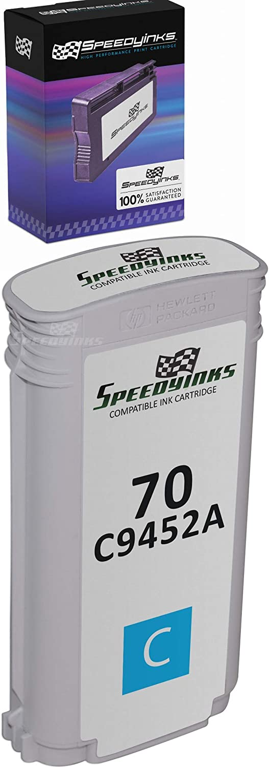 Speedy Inks Remanufactured Ink Cartridge Replacement for HP 70 / C9452A (Cyan)