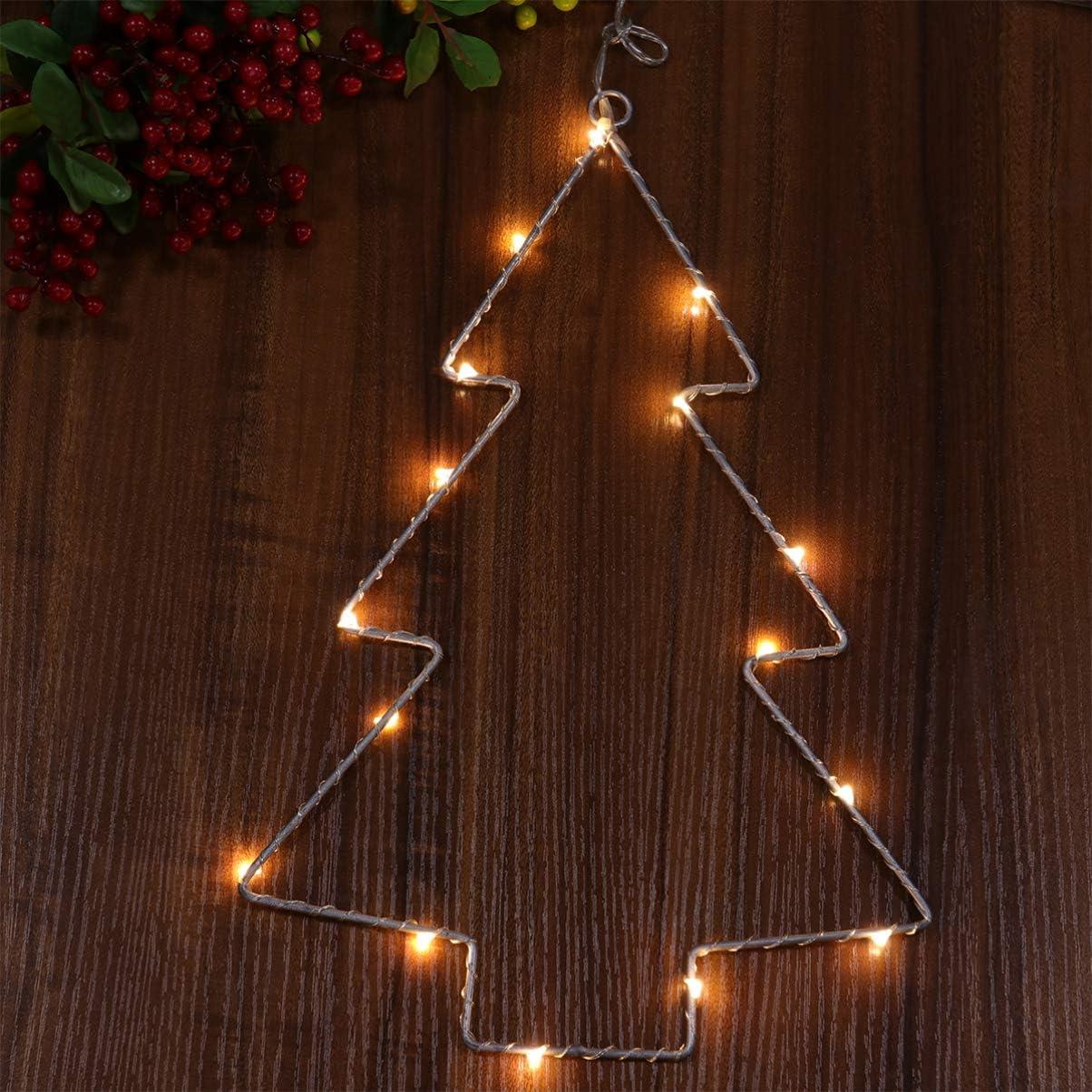 Mobestech 2 piezas luces de silueta de navidad luces de árbol de ...