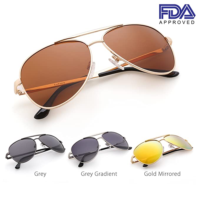 03f3806e61a Amazon.com  Classic Polarized Aviator Sunglasses