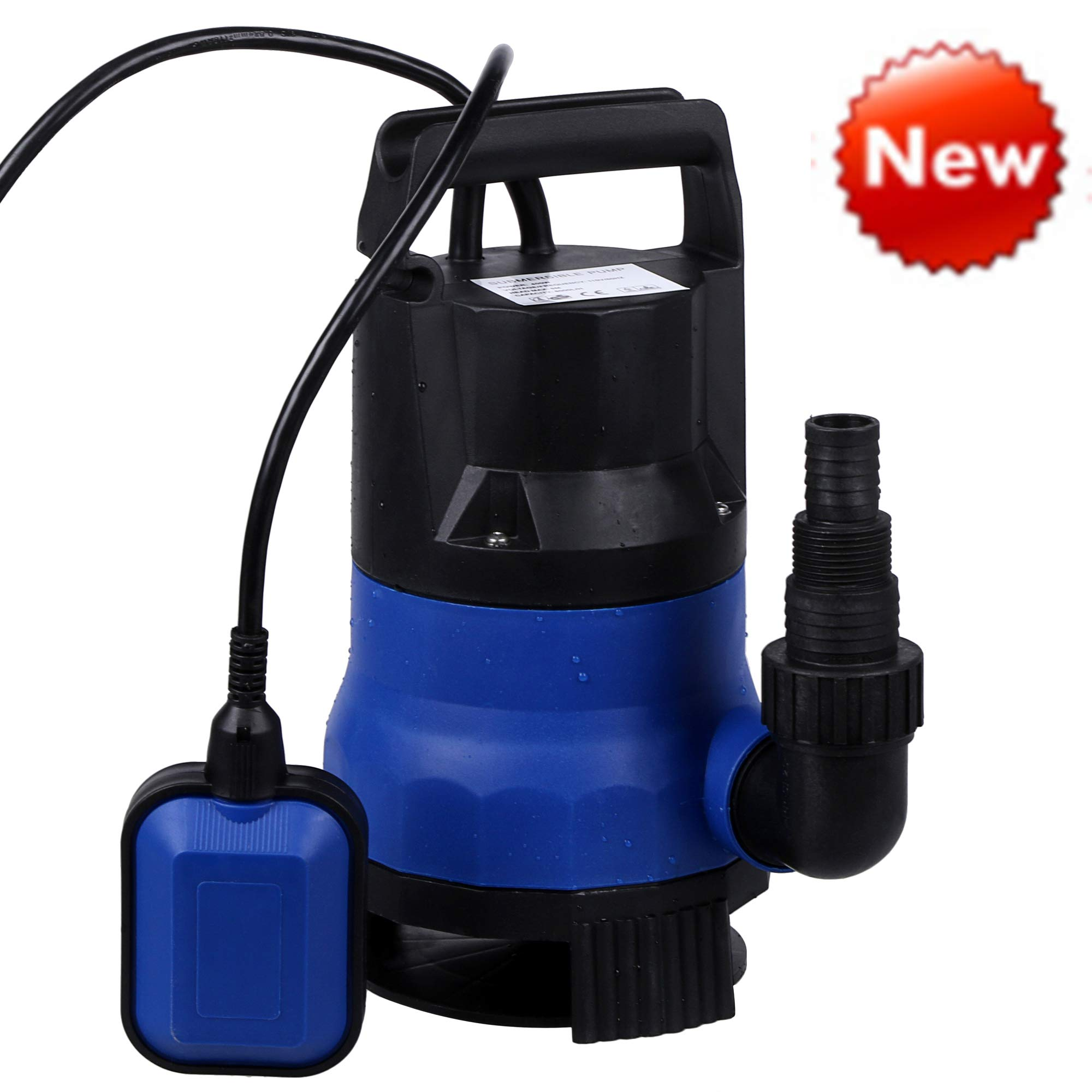 Sump Pump 1/2HP Clean Dirty Water Submersible Pump 400W Pump for Swimming Pool Drain (Blue) by Homdox