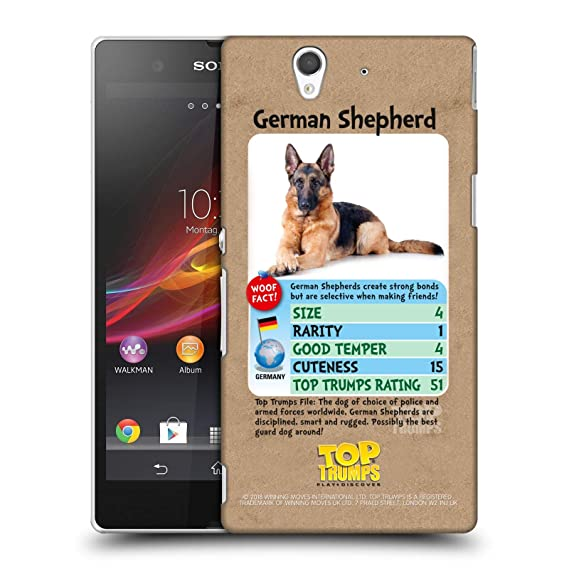 Clever German Shepherd Dog Snap-on Hard Back Case Phone Cover For Sony Mobile Phones Cell Phone Accessories Cases, Covers & Skins