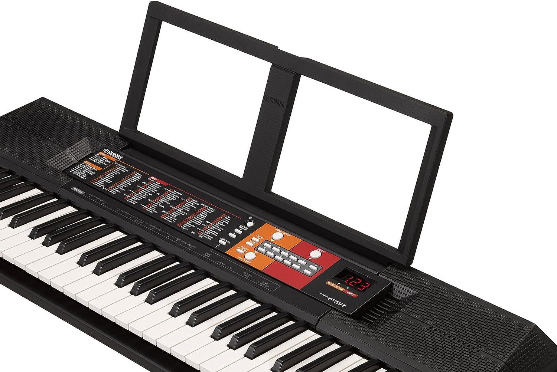 Yamaha PSR-F51 - Teclado digital portátil para principiantes o estudiantes con 61 teclas y Modo Dúo, color negro: Amazon.es: Instrumentos musicales