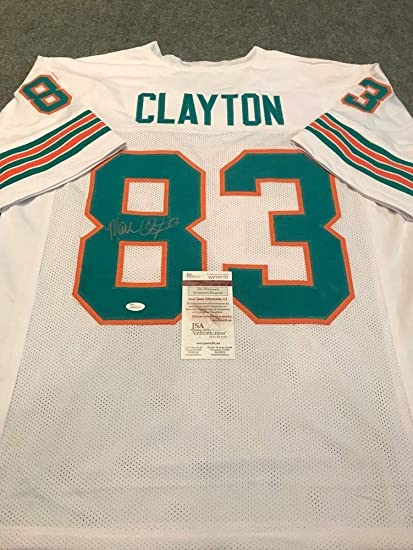 timeless design 43205 2469e Mark Clayton Autographed Signed Miami Dolphins Jersey - JSA ...