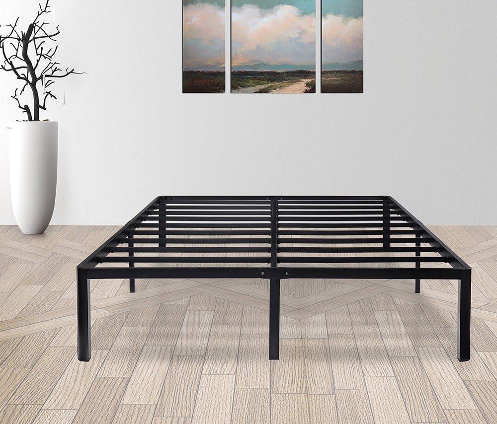 Olee Sleep 14 inch Tall T-2000 Steel Slat Non-Slip Support Bed Frame Full Size