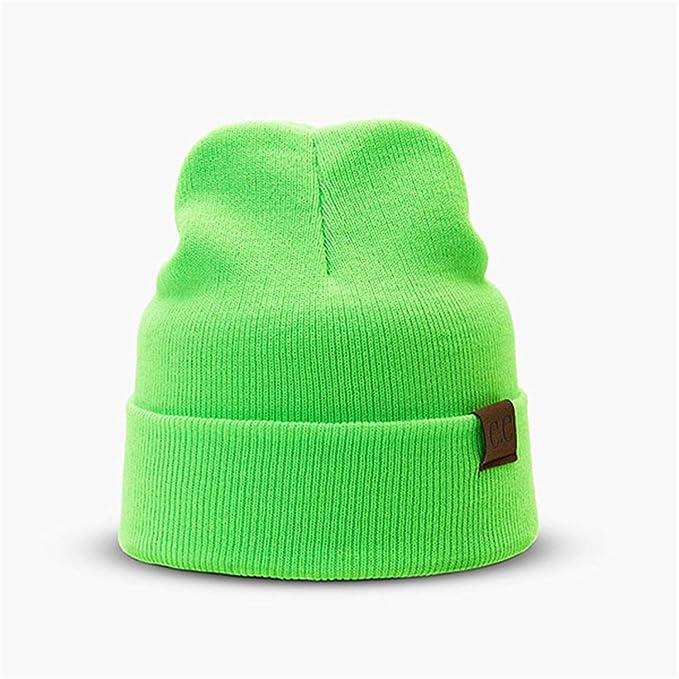 98b901d97b9 Hat Female Unisex Solid Cotton Blends CC Beanies Winter Warm Soft Hip HOP  Knitted Hats Men