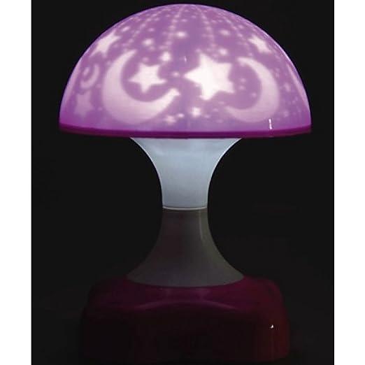 luz nocturna LED Cielo Estrellado Rosa niña móvil lámpara de noche ...