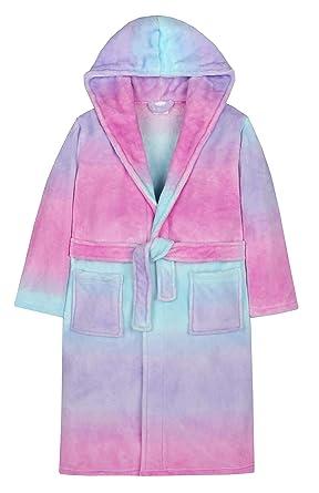 Robe de Chambre Multicolore Arc-en-Ciel Fille: Amazon.fr: Vêtements ...